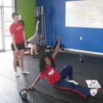 Vanessa coaching Alicia in the TGU at Atlanta KB cert