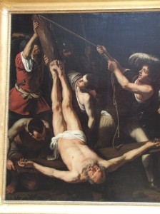 Painting of Apostle Peter being Crucified upside down - The Hermitage, St. Petersburg Russia