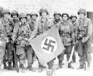 A group of paratroopers at Marmion Farm, Normandy