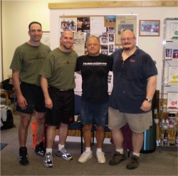 Jeff, Jim, Frank, and Bud at CrossFit Sarasota