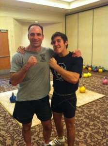 Jeff and Lee Quattrone (awesome competitor and previous 24 kg Long Cycle record holder)